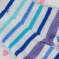 【BP-06N】Blythe Pantyhose # Stripe Mix Blue