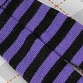 【BP-113】Blythe Pantyhose # Stripe Black+Purple