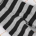 【BP-114】Blythe Pantyhose # Stripe Black+Grey