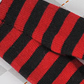 【BP-125】Blythe Pantyhose # Stripe Black+Red