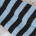 【BP-127】Blythe Pantyhose # Stripe Black+Water Blue