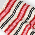 【BP-35】Blythe Pantyhose # Stripe Red Pink