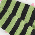 【BP-84N】Blythe Pantyhose # Stripe Black+Green