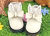 23-1 Blythe/Pullip ウサギの耳 ボウ 靴.白色 White