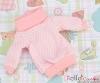 14.NI-01N Blythe Pullip プル オーバーウエア (グリッド) # 白+ピンク White+Pink