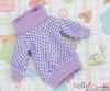 33.NI-03N Blythe Pullip プル オーバーウエア (グリッド) # 白+紫 White+Purple