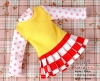 102.NI-04 Blythe Pullip ドレス (グリッド) # 黄色 Yellow