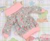 205.NI-28N Blythe Pullip プル オーバーウエア # ピンク+灰の花 Pink+Grey Flower