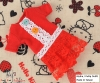 194.NI-54 Blythe Pullip ドレス # 赤色 Red