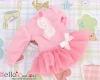 281.NK-07N Blythe Pullip ドレス (パフスリーブ) # ピンク Pink