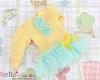 283.NK-09N Blythe Pullip ドレス (パフスリーブ) # 黄色 Yellow
