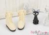 06-03 Blythe/Pullip 靴.Off White オフホワイト