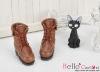 06-04 Blythe/Pullip 靴.Brown 褐色
