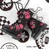 13-01 Blythe/Pullip 靴.黒い底+濃いピンクドクロ