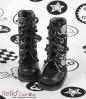 13-10 Blythe/Pullip 靴.黒い底+銀ドクロ