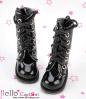 13-11 Blythe/Pullip 靴.Shiny Black 光沢のある黒