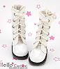 13-12 Blythe/Pullip 靴.Shiny White 光沢のある白