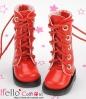 13-16 Blythe/Pullip 靴.Shiny Red 光沢のある赤色