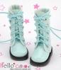 13-17 Blythe/Pullip 靴.Shiny Sky Blue 光沢のある空色