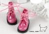 15-08 Blythe/Pullip 靴.Shiny Deep Pink 光沢のある濃い桃色
