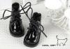 15-11 Blythe/Pullip 靴.Shiny Black 光沢のある黒