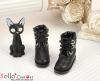 27-2 Blythe/Pullip 靴.Black 黒色