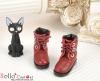27-5 Blythe/Pullip 靴.Crimson 深紅