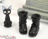 28-2 Blythe/Pullip 靴.Black 黒色