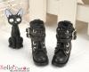 29-2 Blythe/Pullip 靴.Black 黒色