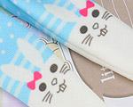 【BP-T06】Blythe 印刷タイツ Pantyhose/ Tights # ウサギ/青 Rabbit/Blue