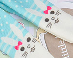 【BP-T08】Blythe 印刷タイツ Pantyhose/ Tights # ウサギ/シアン Rabbit/Cyan