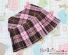 S02.【Das-02N】SD/DD学生スカート# Stripe Pink+ Brown ストライプ桃色+褐色