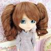 "【HT-GL2226】8.0~9.5"" HP ウイッグ+髪のピン # 茶色 Brown"