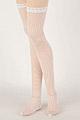 H05.【LL-05】ニーソックス(SD/DD)Thigh-High Doll Stockings # Mid Net White