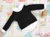 159.【NE-1】Blythe/Pullip Layered Look Top 長袖Tシャツ重ね着風# 黒 Black