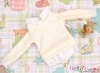 161.【NE-2】Blythe/Pullip Layered Look Top 長袖Tシャツ重ね着風# 白 White