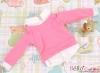 162.【NE-3】Blythe/Pullip Layered Look Top 長袖Tシャツ重ね着風# 濃いピンク Deep Pink