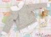 164.【NE-4】Blythe/Pullip Layered Look Top 長袖Tシャツ重ね着風 # 灰 Grey