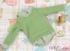 213.【NE-5】Blythe/Pullip Layered Look Top 長袖Tシャツ重ね着風 # 緑 Green