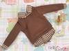 239.【NE-6】Blythe/Pullip Layered Look Top 長袖Tシャツ重ね着風 # 茶色 Brown