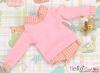 390.【NE-9】Blythe/Pullip Layered Look Top 長袖Tシャツ重ね着風 # ピンク Pink