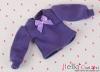 304.【NI-S11】Blythe Pullip長袖Tシャツ(パフスリーブ)# 紫 Violet