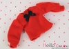 306.【NI-S13】Blythe Pullip長袖Tシャツ(パフスリーブ)# 赤 Red