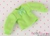 308.【NI-S15】Blythe Pullip長袖Tシャツ(パフスリーブ)# 林檎の緑 Apple Green