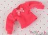 309.【NI-S16】Blythe Pullip長袖Tシャツ(パフスリーブ)# 濃い桃色 Deep Pink
