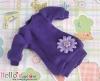 368.NK-05N Blythe Pullip 装飾された洋服 (リボン花) # 紫色 Purple