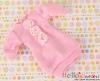 285.NK-11 Blythe Pullip 装飾された洋服 (レース花) # ピンク Pink