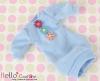 287.NK-13 Blythe Pullip  パフスリーブ装飾された洋服 (3花) # 空色 Sky Blue