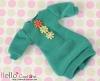 288.NK-14 Blythe Pullip  パフスリーブ装飾された洋服 (3花) # 海の緑 Sea Green
