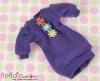 289.NK-15 Blythe Pullip  パフスリーブ装飾された洋服 (3花) # 紫 Violet